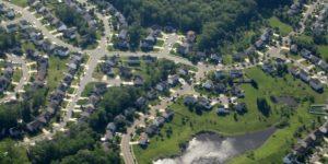 Suburban US neighborhood