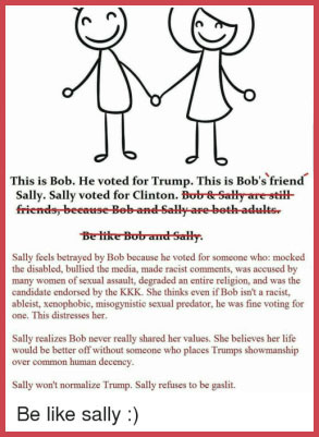 Bob and Sally, Trump meme