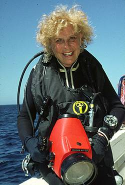 Riefenstahl as a diver