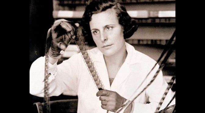 Leni Riefenstahl, editing film