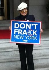 Yoko Ono, anti-fracking advocate
