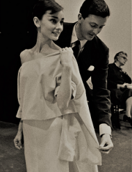Audrey Hepburn with friend and fashion designer Hubert de Givenchy.