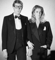 Catherine Deneuve and Yves Saint-Laurent
