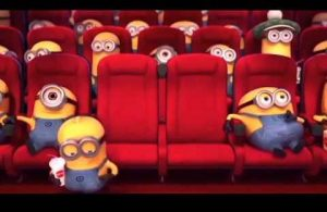 Minions watching movies