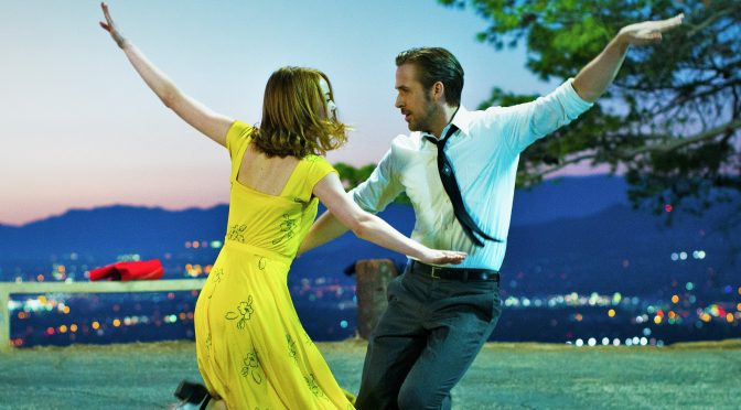 Ryan Gosling and Emma Stone dancing in La La Land
